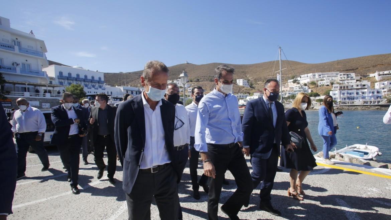 kyriakos - mitsotakis - astypalaia - eiskepsi - nisi - maskes ΑΠΕ ΜΠΕ 1