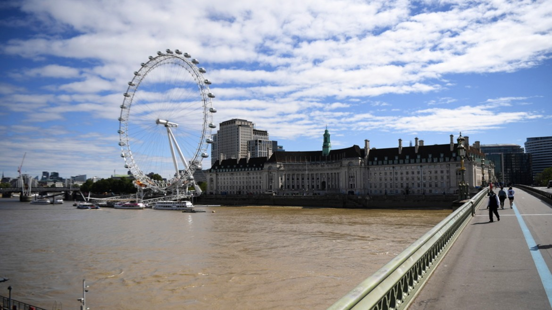 london - londino - london eye - potamos -tamesis - ΦΩΤΟΓΡΑΦΙΑ ΑΠΕ ΜΠΕ ANDY RAIN 05-08-2020 -