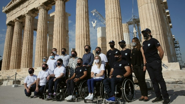 akropoli - elliniki paraolympiaki aepitropi - mendoni - maskes - ΦΩΤΟΓΡΑΦΙΑ ΑΠΕ ΜΠΕ 20-07-2021--