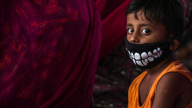 paidaki - agori - maska -koronoios - india - ΦΩΤΟΓΡΑΦΙΑ ΑΠΕ ΜΠΕ 29-06-2021--