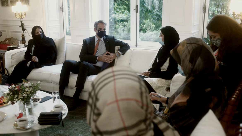 mitsotakis - kyriakos - afganes - synaikes - synantisi - maksimou - maskes - ΦΩΤΟΓΡΑΦΙΑ ΓΙΑΝΝΗΣ ΚΟΛΕΣΙΔΗΣ ΑΠΕ ΜΠΕ 15-10-2021--